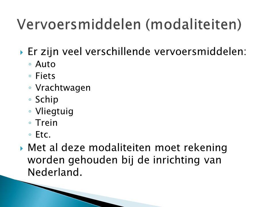 Vervoersmiddelen (modaliteiten)