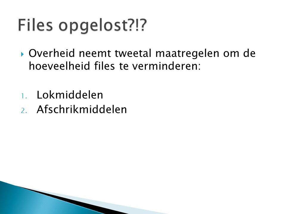 Files opgelost ! Overheid neemt tweetal maatregelen om de hoeveelheid files te verminderen: Lokmiddelen.