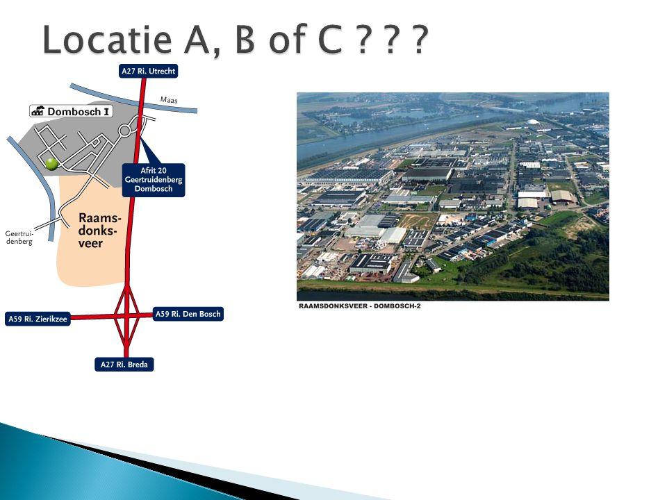 Locatie A, B of C