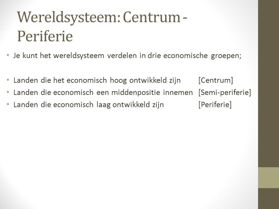 Wereldsysteem: Centrum - Periferie