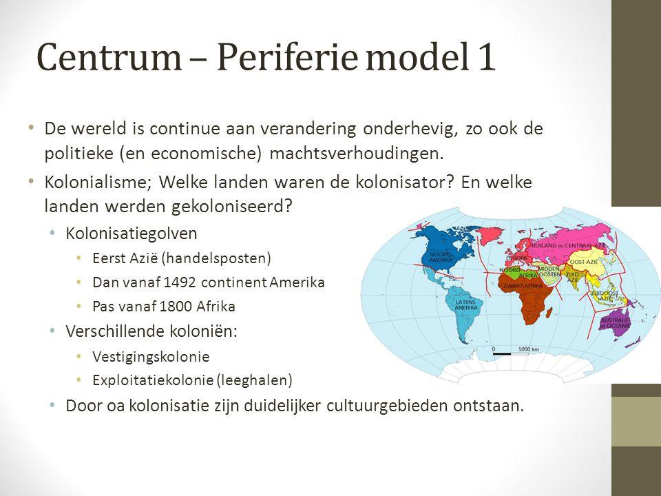 Centrum – Periferie model 1