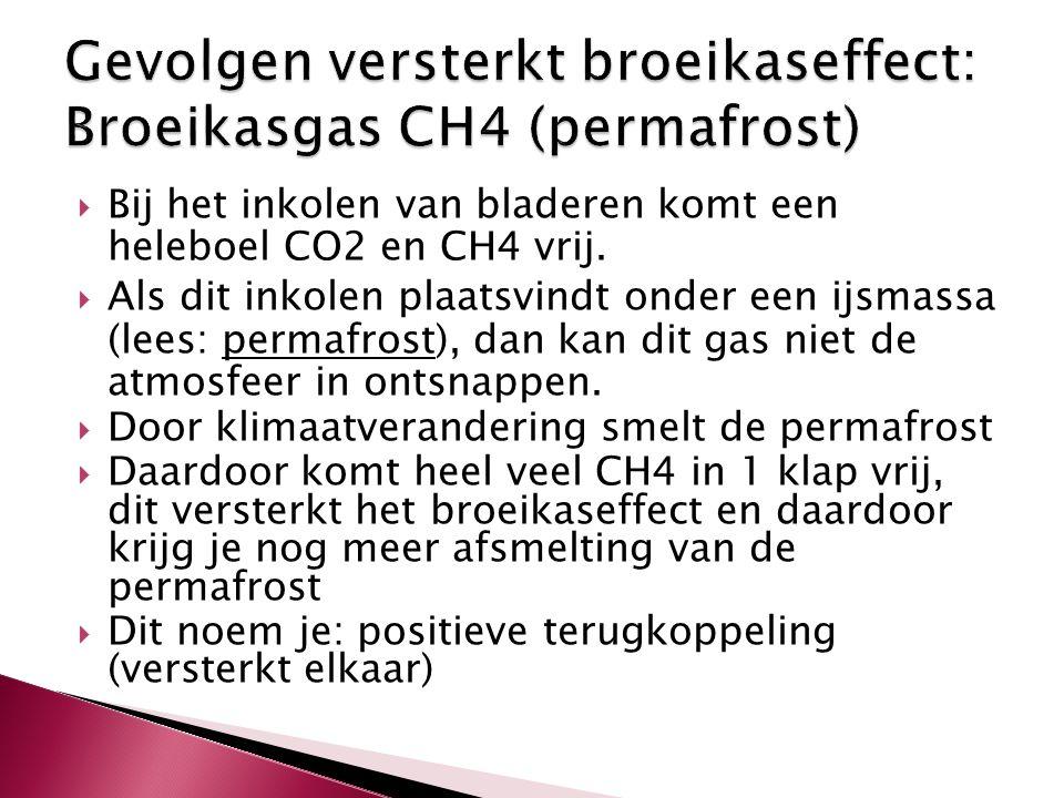 Gevolgen versterkt broeikaseffect: Broeikasgas CH4 (permafrost)