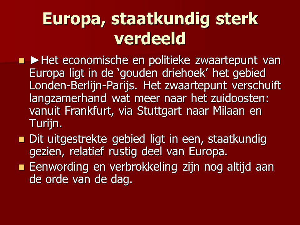 Europa, staatkundig sterk verdeeld