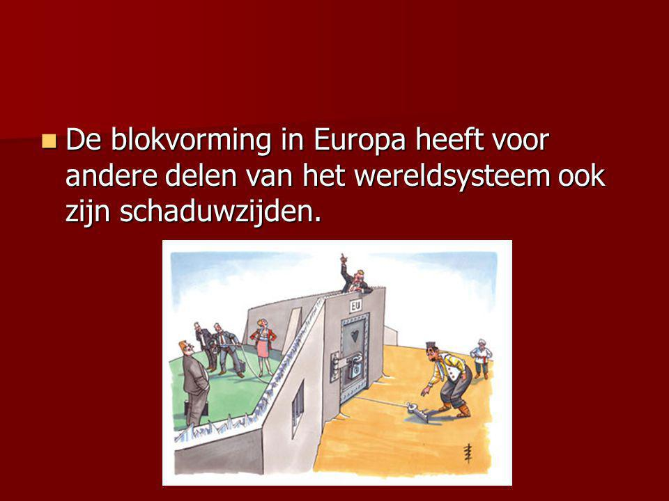 De blokvorming in Europa heeft voor andere delen van het wereldsysteem ook zijn schaduwzijden.