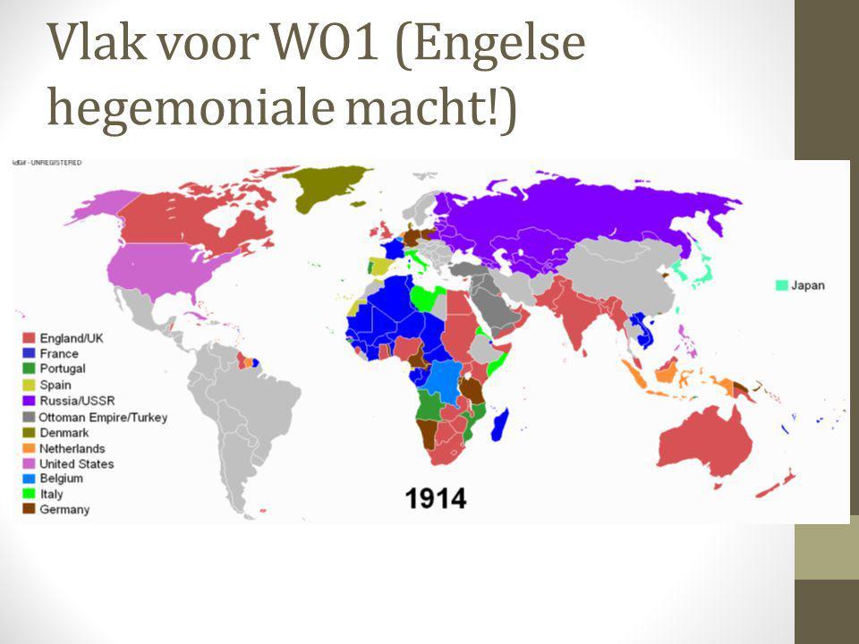Vlak voor WO1 (Engelse hegemoniale macht!)