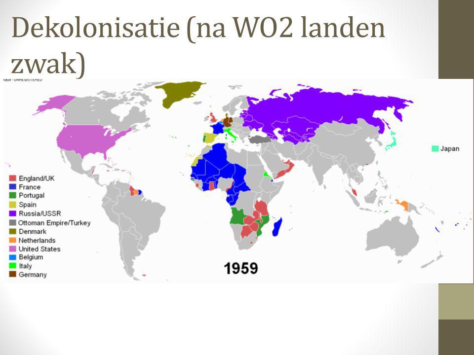 Dekolonisatie (na WO2 landen zwak)