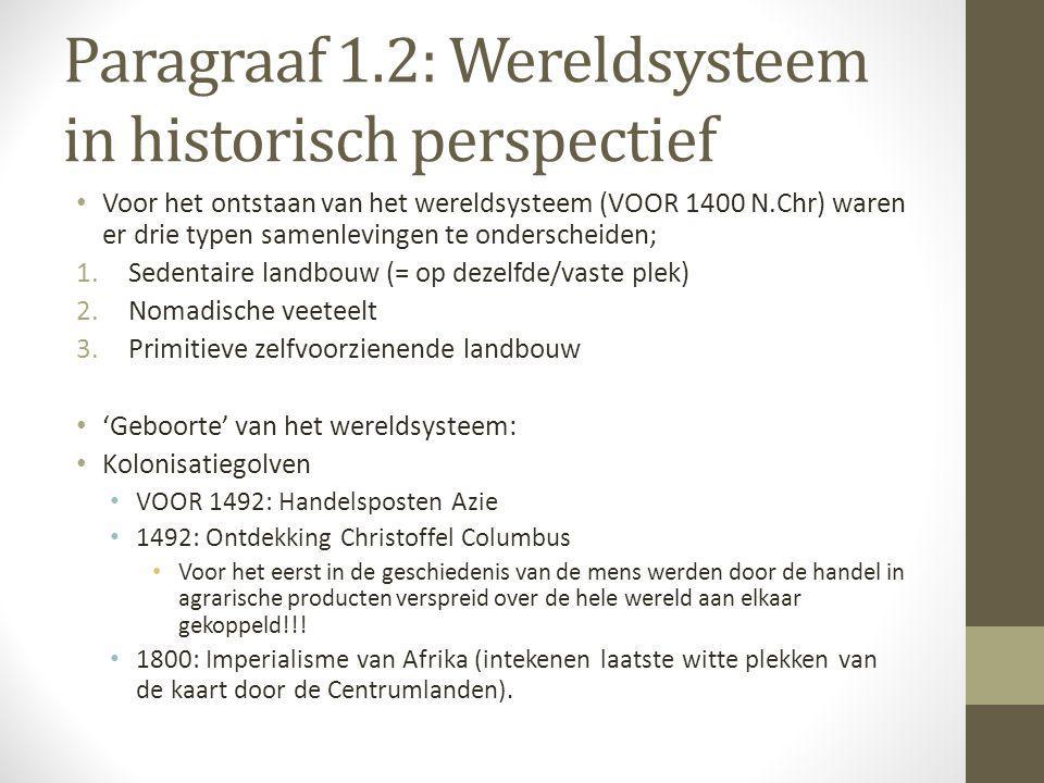 Paragraaf 1.2: Wereldsysteem in historisch perspectief