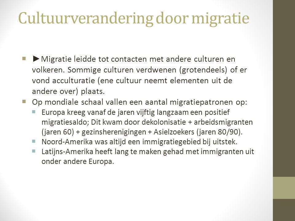 Cultuurverandering door migratie
