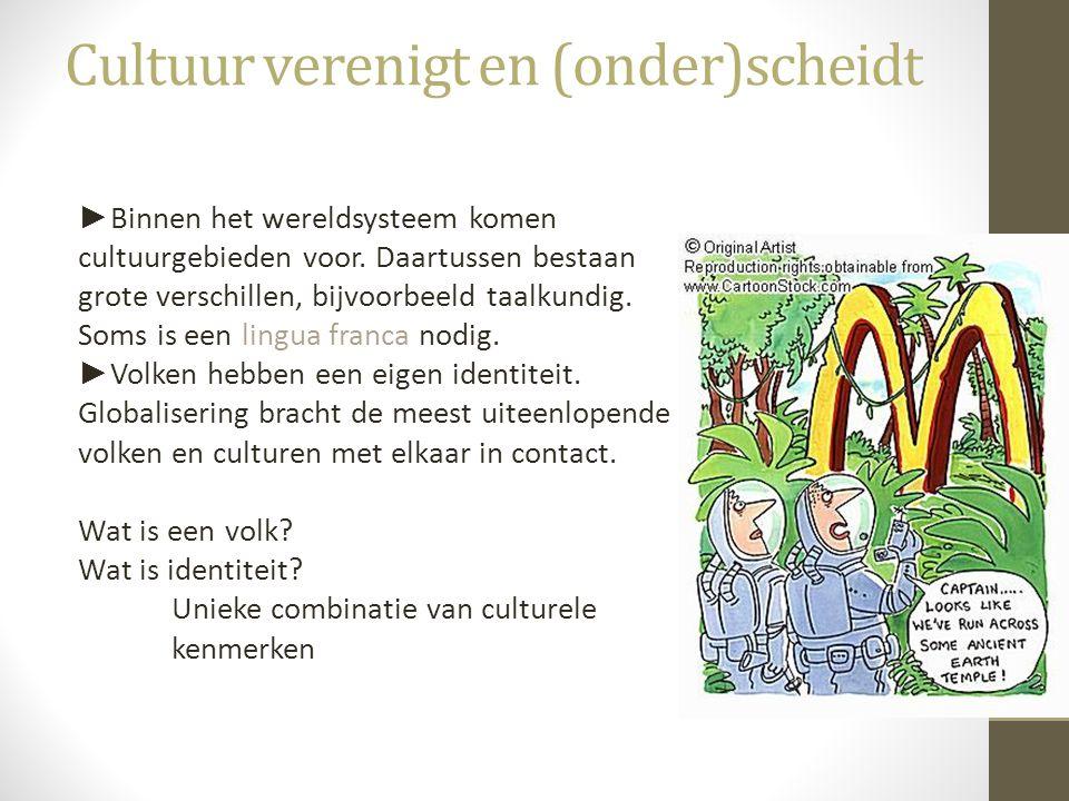Cultuur verenigt en (onder)scheidt