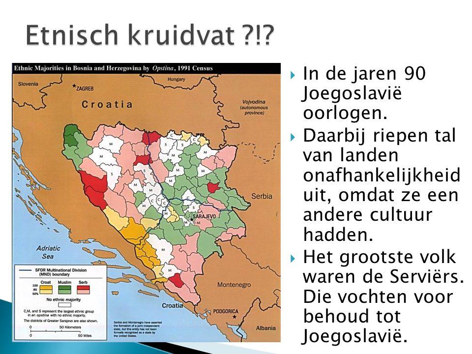 Etnisch kruidvat ! In de jaren 90 Joegoslavië oorlogen.