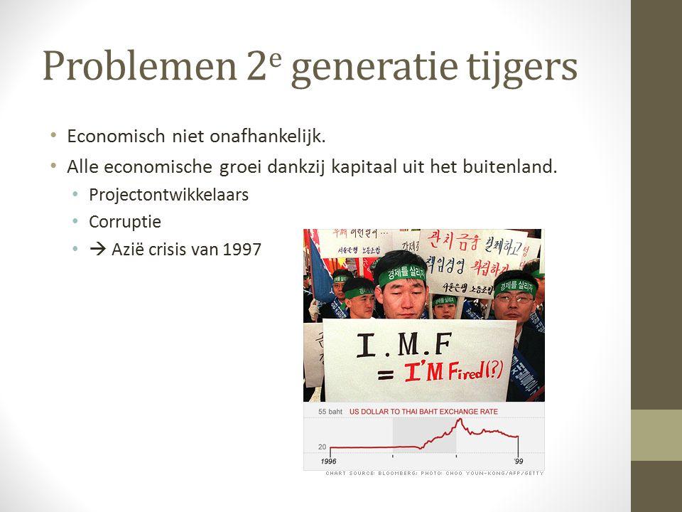 Problemen 2e generatie tijgers
