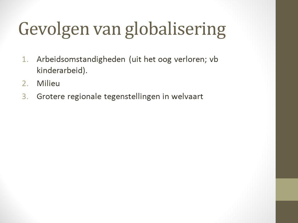 Gevolgen van globalisering