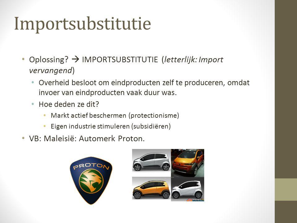 Importsubstitutie Oplossing  IMPORTSUBSTITUTIE (letterlijk: Import vervangend)
