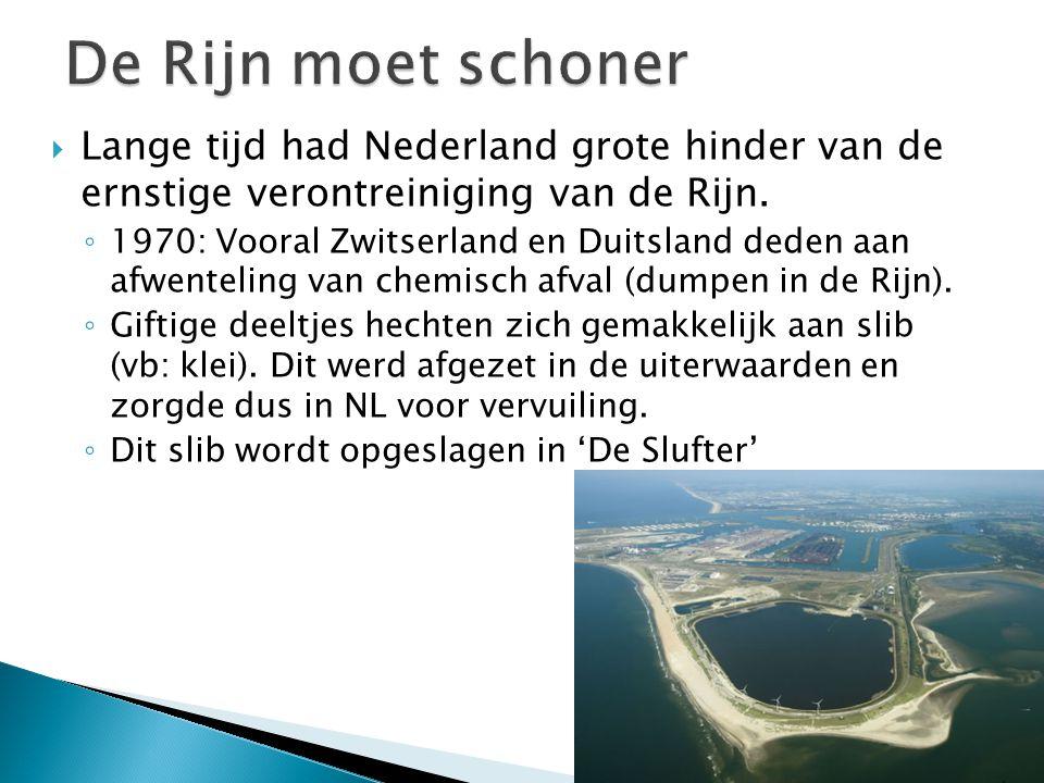 De Rijn moet schoner Lange tijd had Nederland grote hinder van de ernstige verontreiniging van de Rijn.