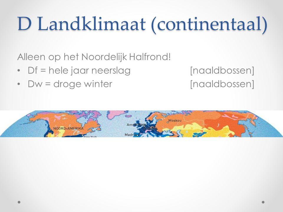 D Landklimaat (continentaal)