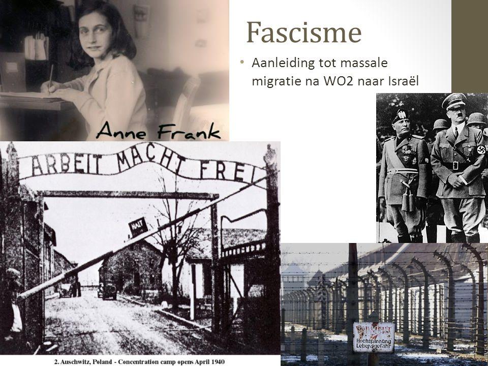 Fascisme Aanleiding tot massale migratie na WO2 naar Israël