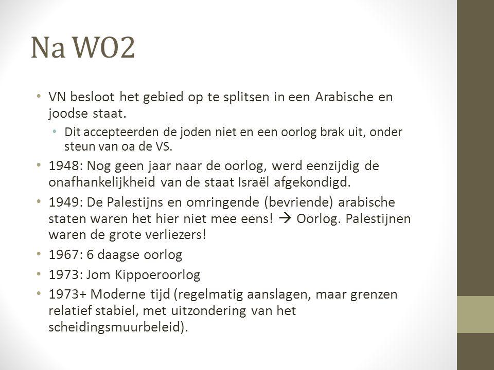 Na WO2 VN besloot het gebied op te splitsen in een Arabische en joodse staat.