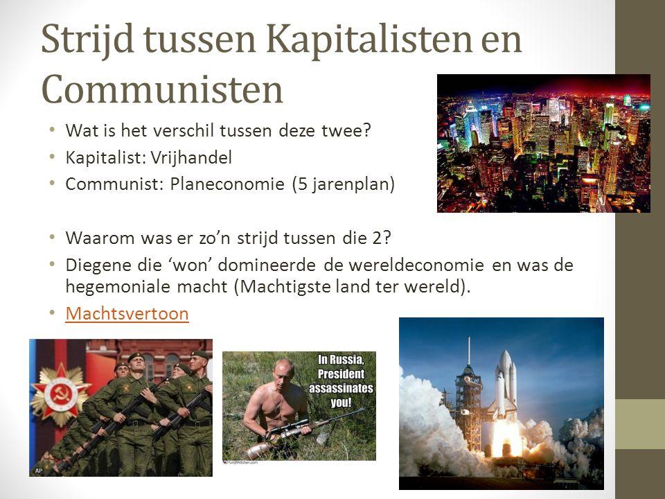 Strijd tussen Kapitalisten en Communisten