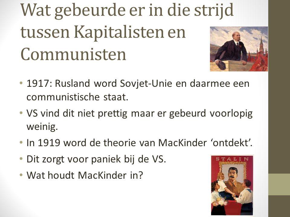 Wat gebeurde er in die strijd tussen Kapitalisten en Communisten