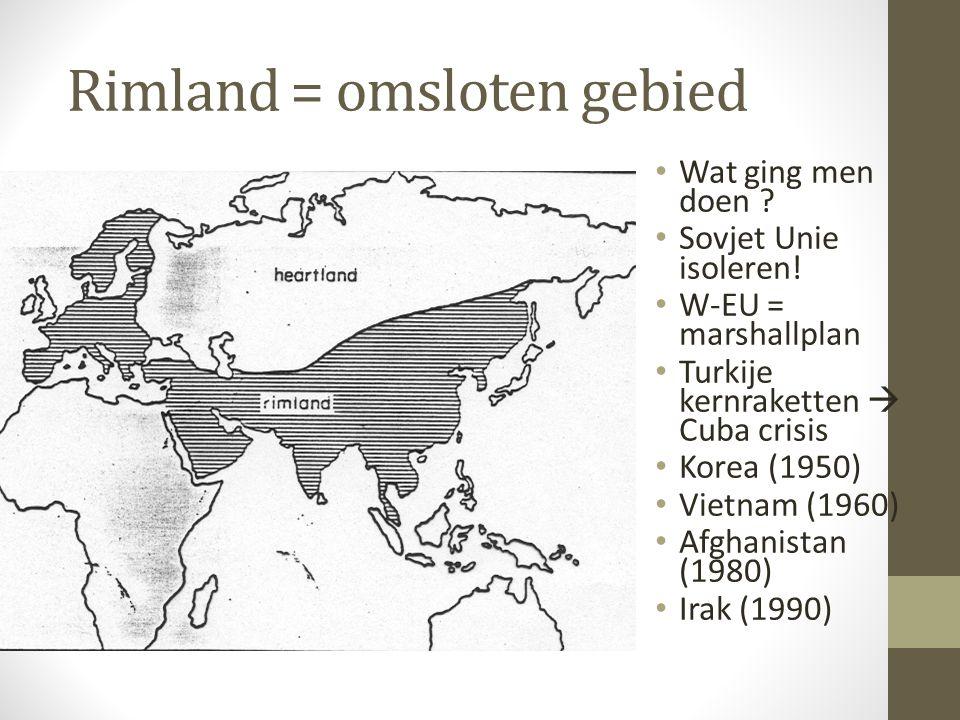 Rimland = omsloten gebied