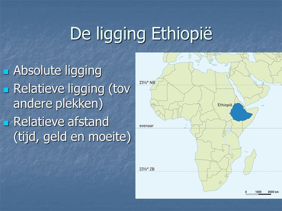 De ligging Ethiopië Absolute ligging
