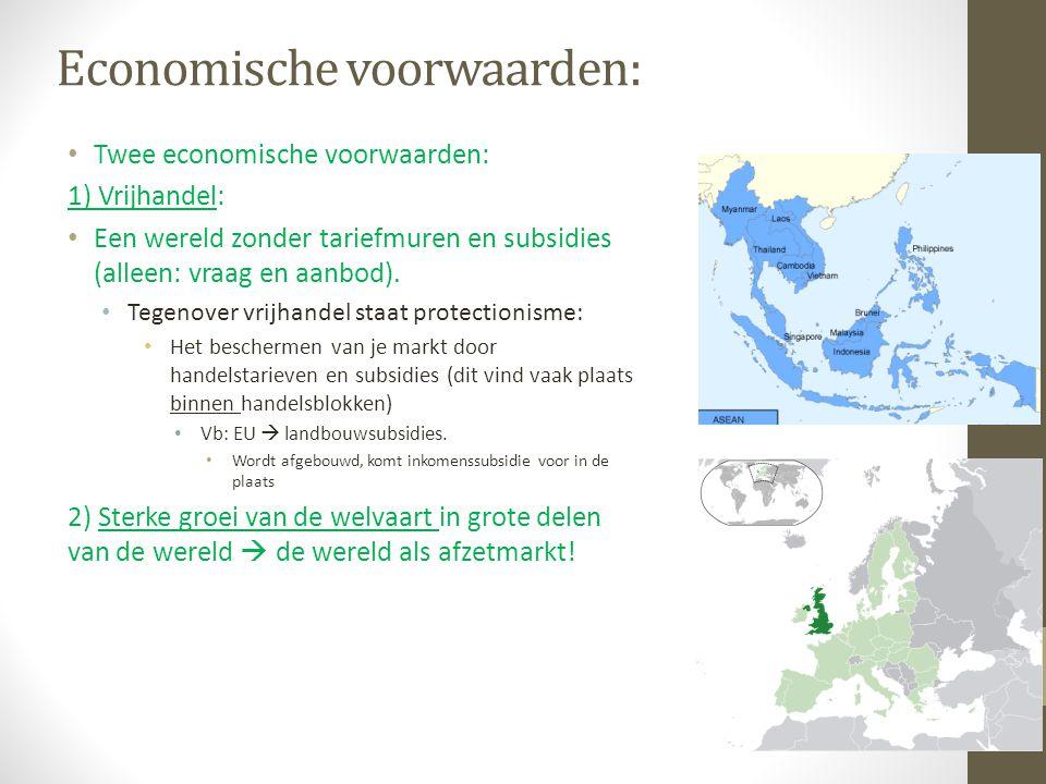 Economische voorwaarden: