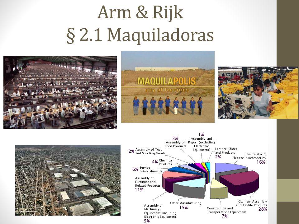 Arm & Rijk § 2.1 Maquiladoras