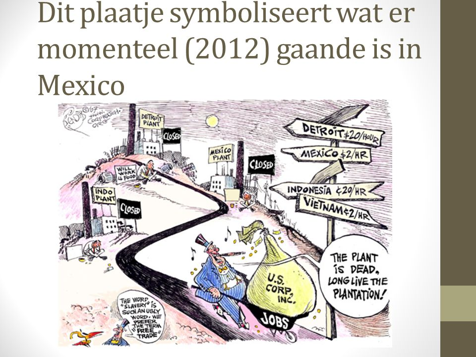 Dit plaatje symboliseert wat er momenteel (2012) gaande is in Mexico