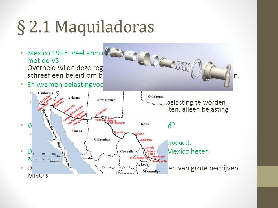 § 2.1 Maquiladoras