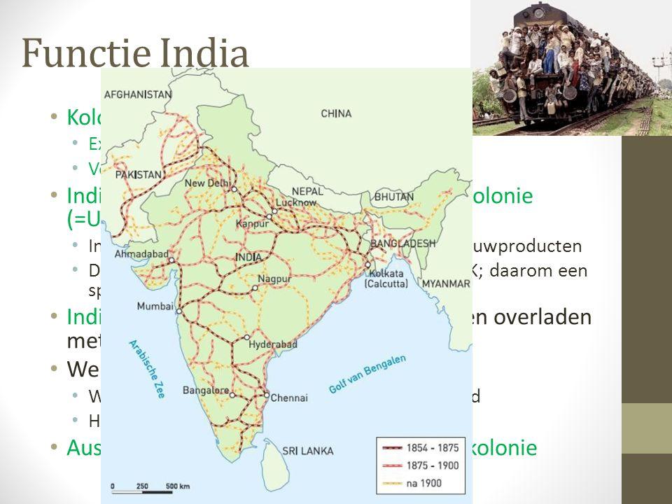 Functie India Kolonies kunnen 2 functies hebben als: