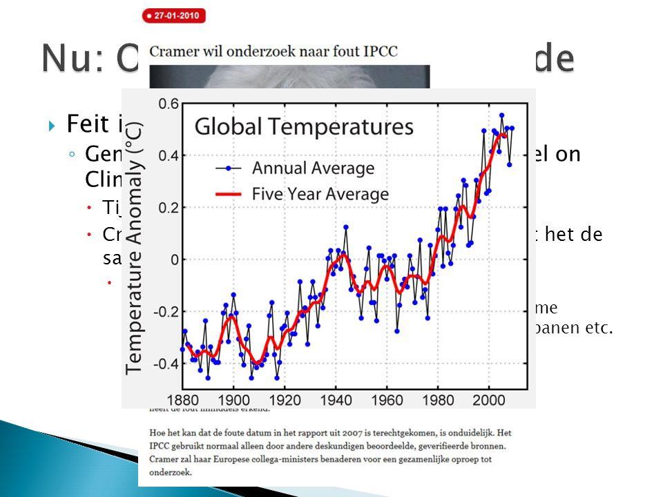 Nu: Opwarming van de aarde