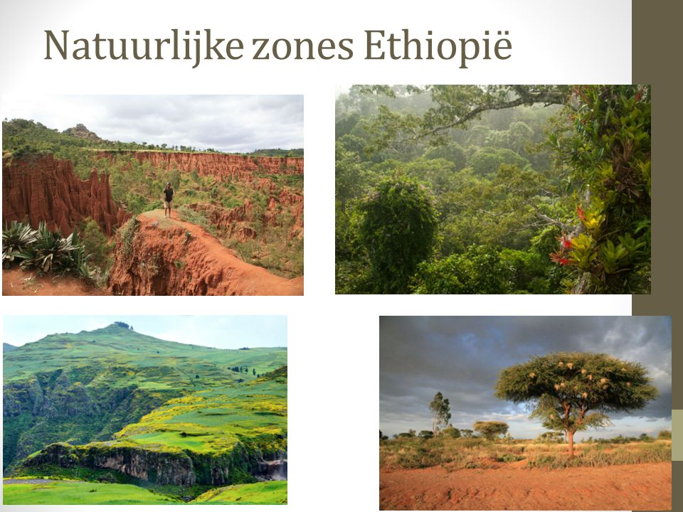 Natuurlijke zones Ethiopië