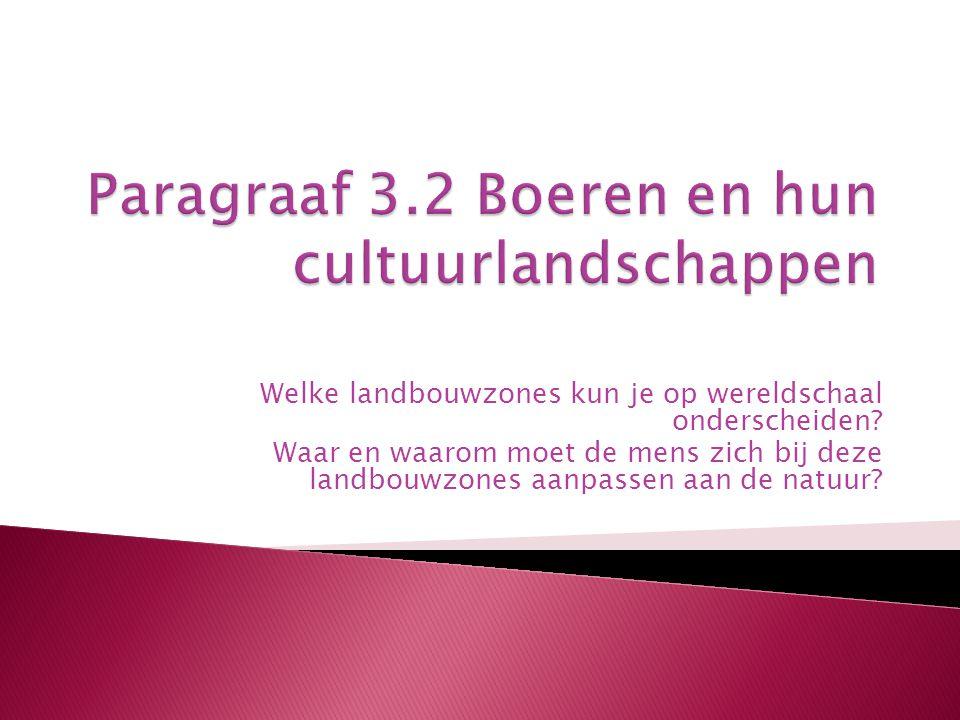 Paragraaf 3.2 Boeren en hun cultuurlandschappen