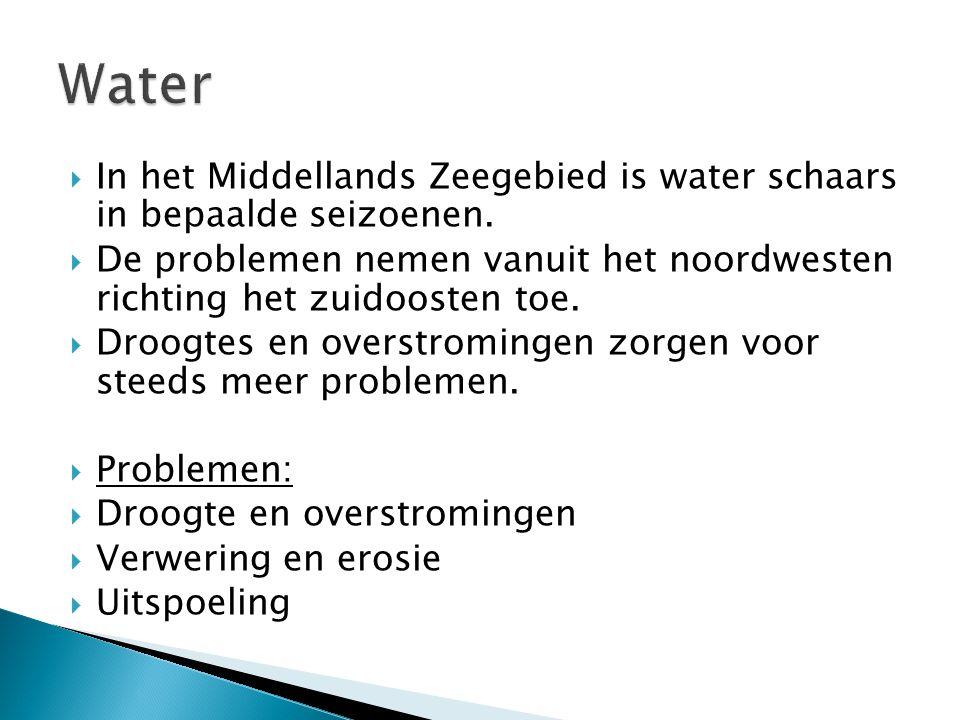 Water In het Middellands Zeegebied is water schaars in bepaalde seizoenen. De problemen nemen vanuit het noordwesten richting het zuidoosten toe.