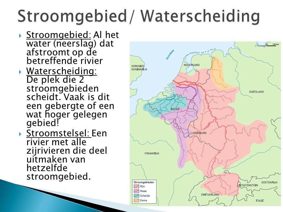 Stroomgebied/ Waterscheiding
