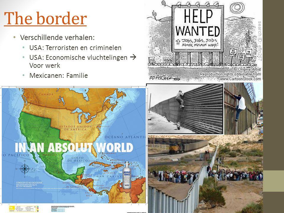 The border Verschillende verhalen: USA: Terroristen en criminelen