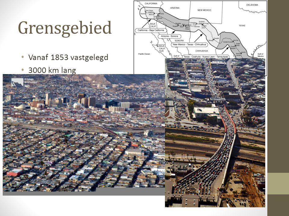 Grensgebied Vanaf 1853 vastgelegd 3000 km lang