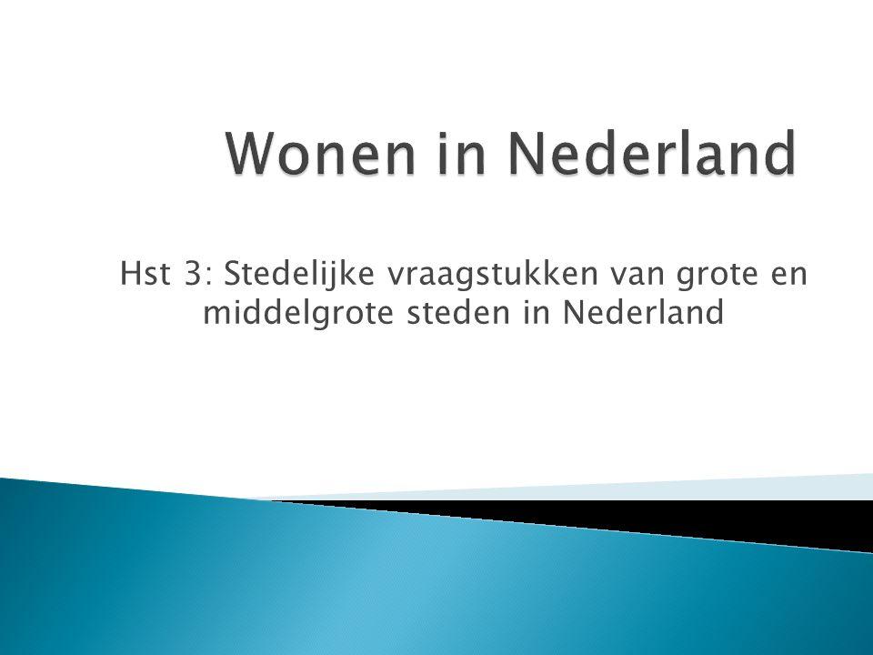 Wonen in Nederland Hst 3: Stedelijke vraagstukken van grote en middelgrote steden in Nederland