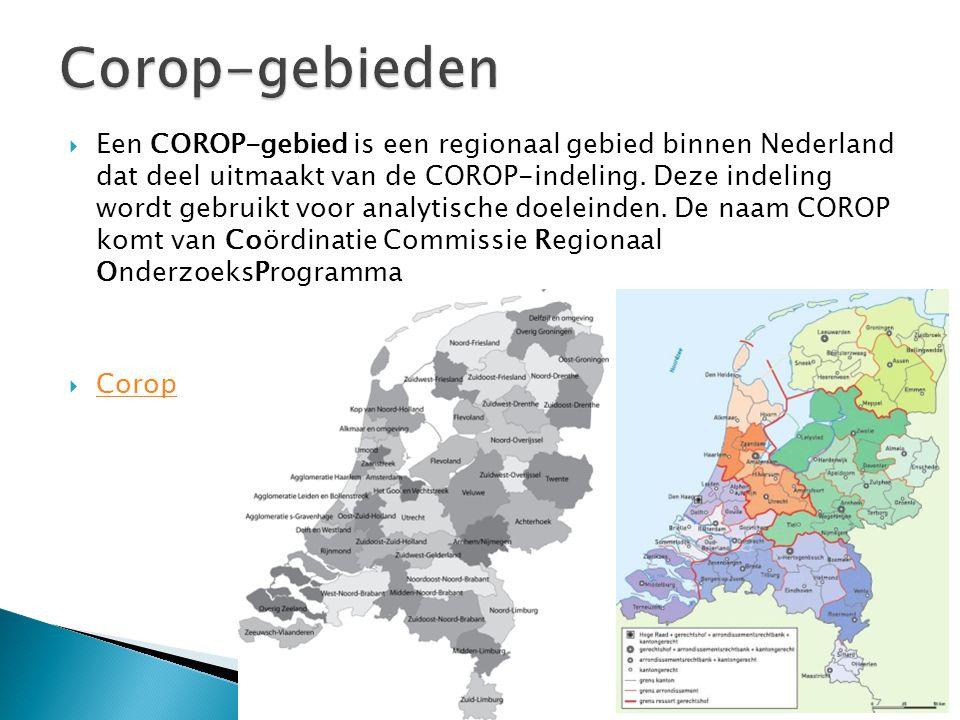 Corop-gebieden