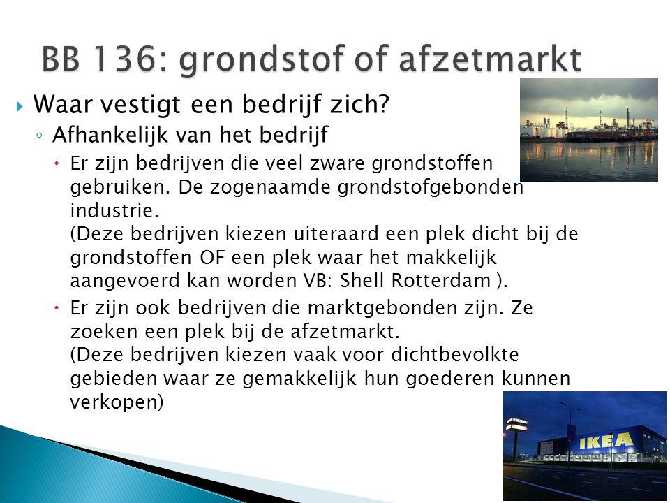 BB 136: grondstof of afzetmarkt