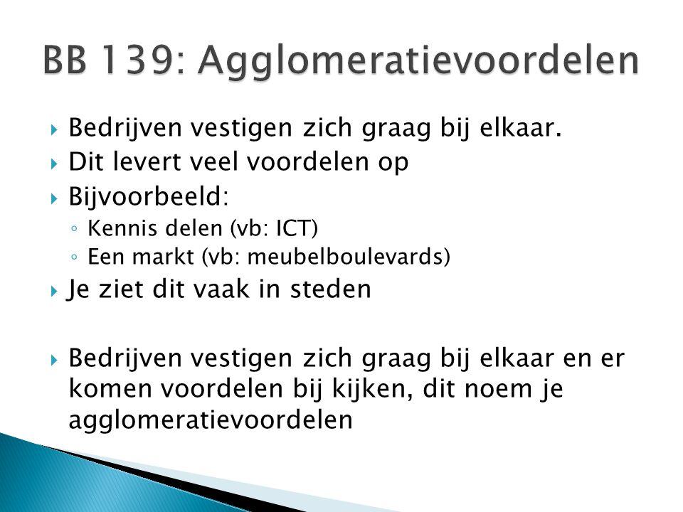 BB 139: Agglomeratievoordelen