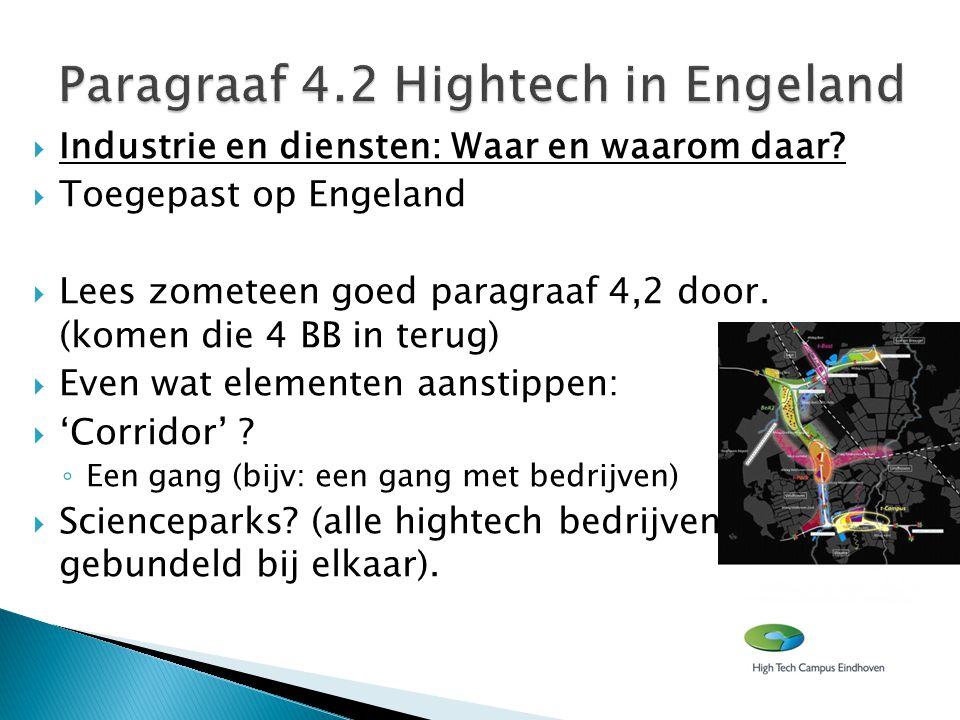 Paragraaf 4.2 Hightech in Engeland
