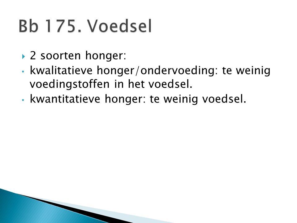 Bb 175. Voedsel 2 soorten honger: