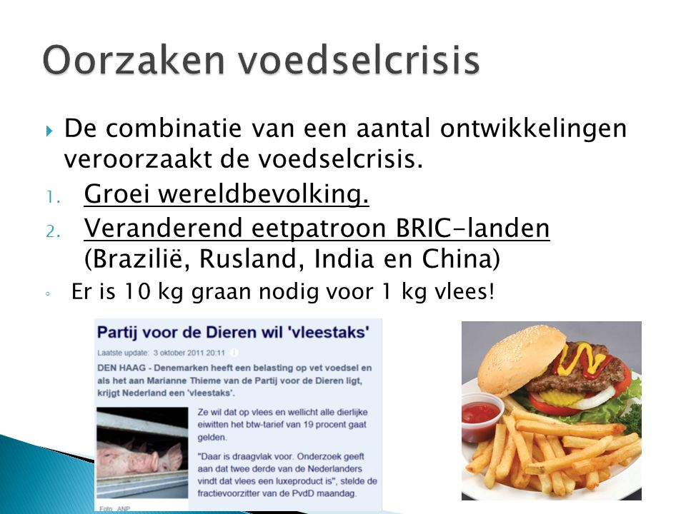Oorzaken voedselcrisis
