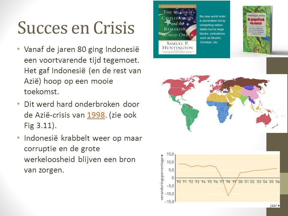 Succes en Crisis Vanaf de jaren 80 ging Indonesië een voortvarende tijd tegemoet. Het gaf Indonesië (en de rest van Azië) hoop op een mooie toekomst.