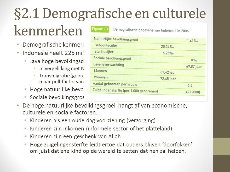 §2.1 Demografische en culturele kenmerken