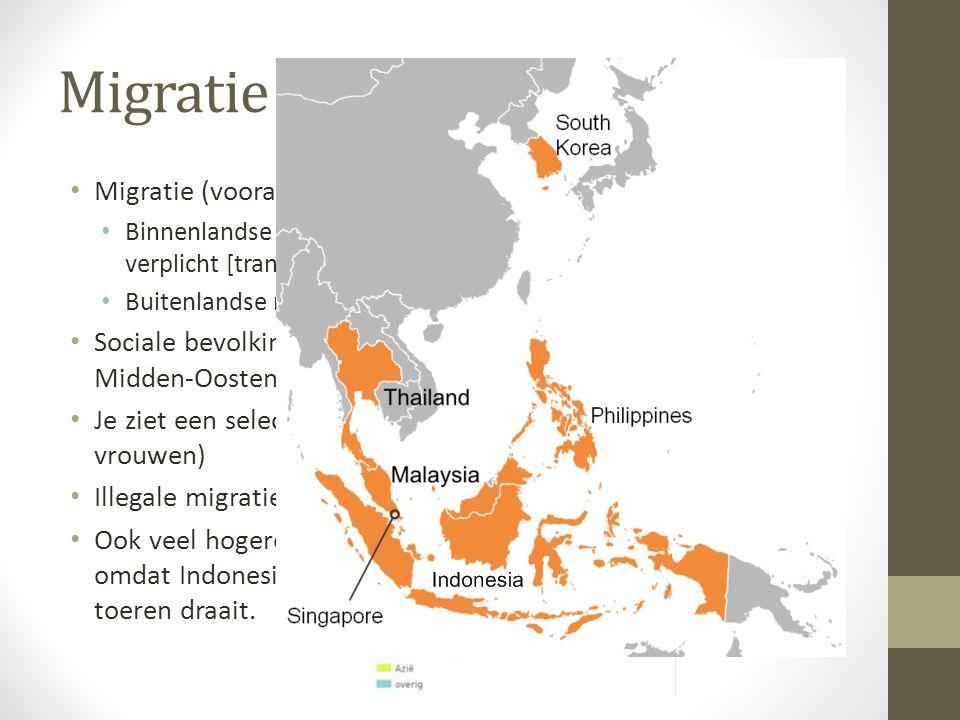 Migratie Migratie (vooral voor werk)
