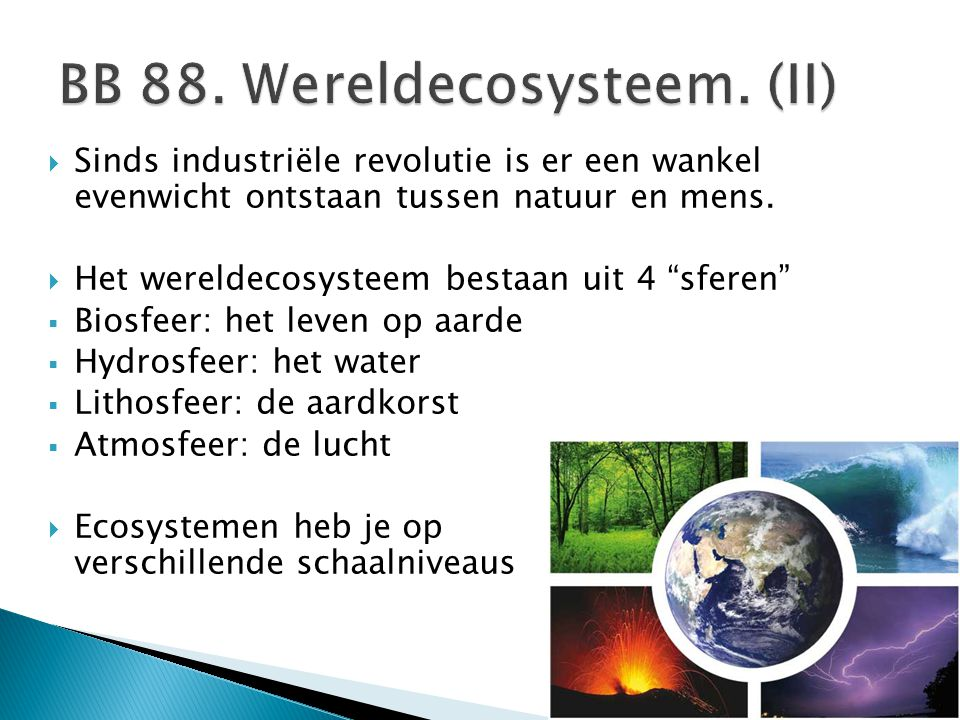 BB 88. Wereldecosysteem. (II)