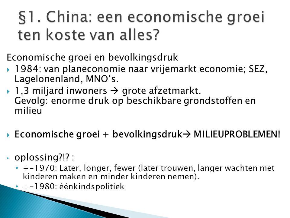 §1. China: een economische groei ten koste van alles