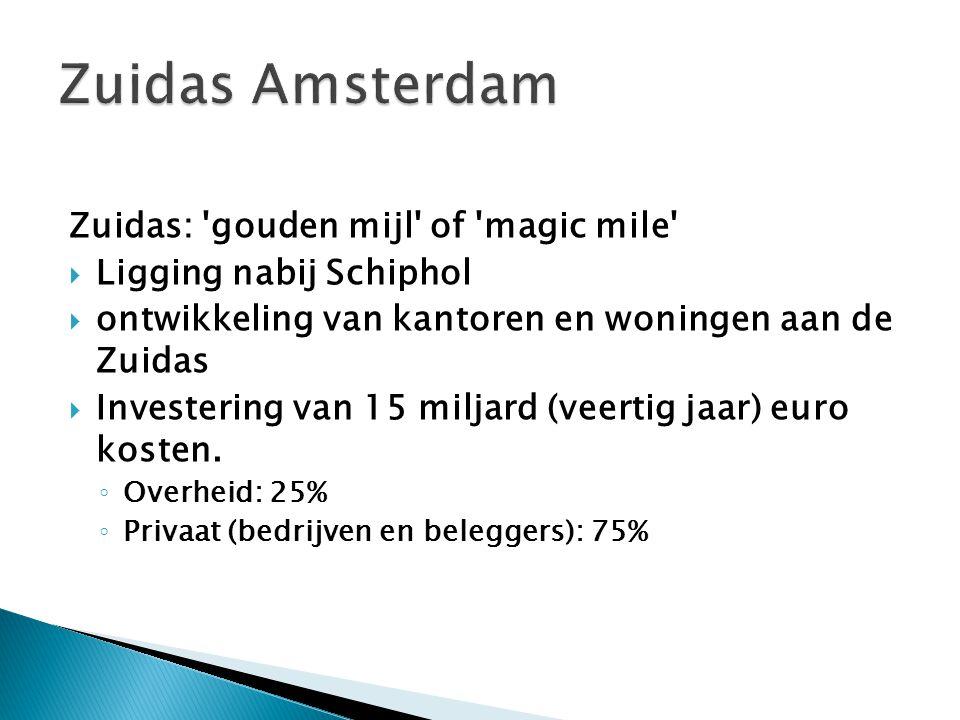 Zuidas Amsterdam Zuidas: gouden mijl of magic mile